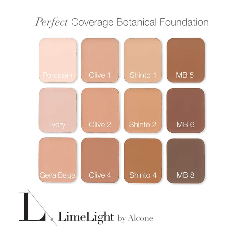 LimeLight Foundation Colors